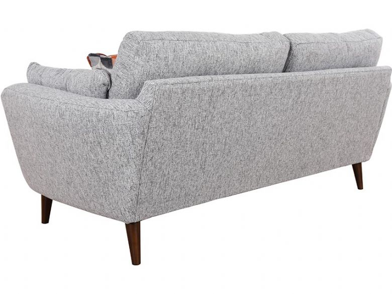 Lottie modern grey sofa with complementing geometric scatters