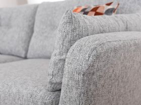 Lottie grey fabric modern sofa with scatters