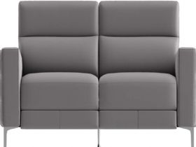 Natuzzi Editions Zantos Loveseat in Brezza Grey
