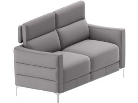 Natuzzi Editions Zantos Sofa in Brezza Grey