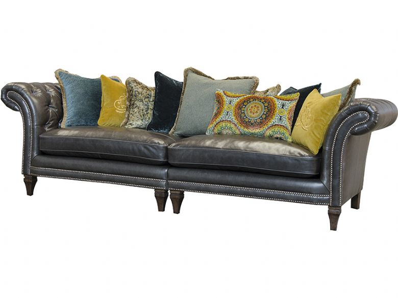 Eden Leather Grand Split Sofa