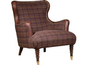 Tetrad Harris Tweed Nairn Chair available at Lee Longlands