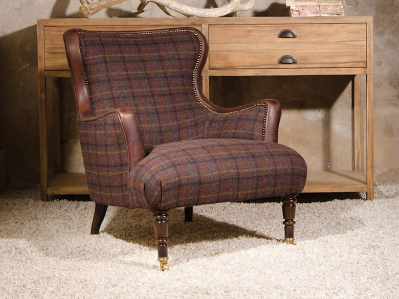 Tetrad Harris Tweed chair in Dornoch Check