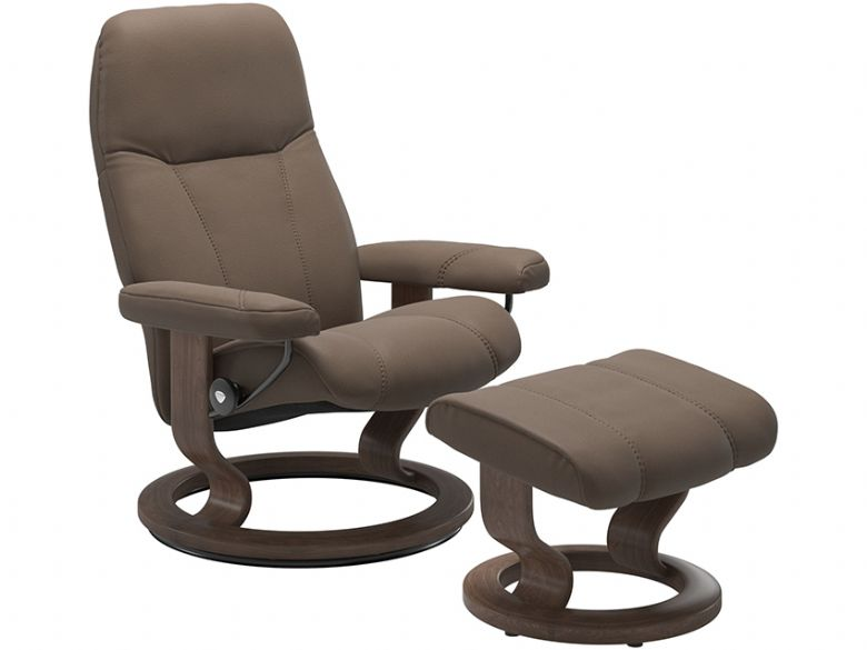 Stressless Consul Medium Promo large Leather Chair & Stool Promo