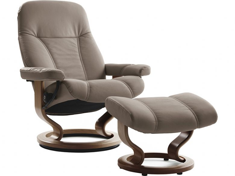 Stressless Consul Medium Promo  Leather Chair & Stool Promo