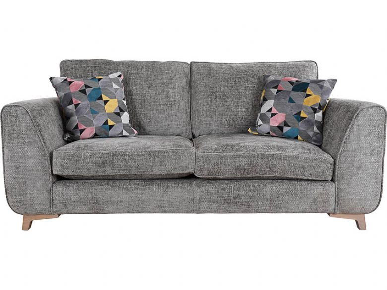 Layla grey fabric 3 seater sofa available at Lee Longlands