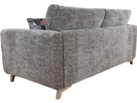 Layla fabric contemporary 3 seater sofa White Glove delivery to your room of choice