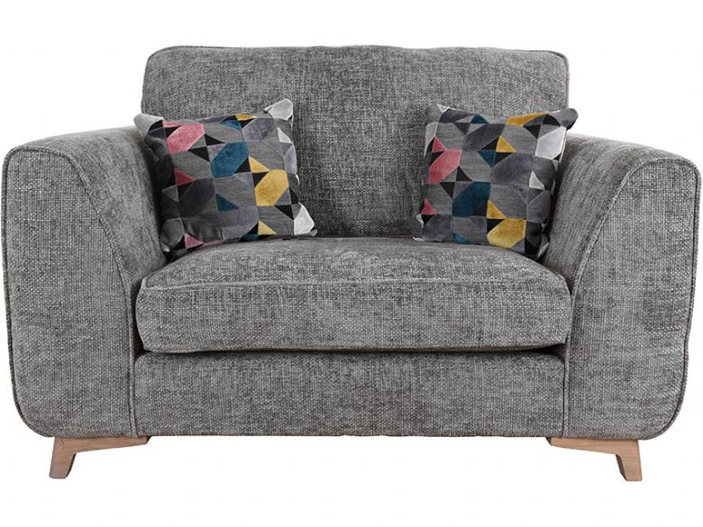 Layla fabric grey snuggler chair available at Lee Longlands