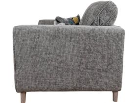 Layla grey fabric snuggle chair available at Lee Longlands