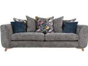 Layla Scatter Back Fabric Grand Sofa