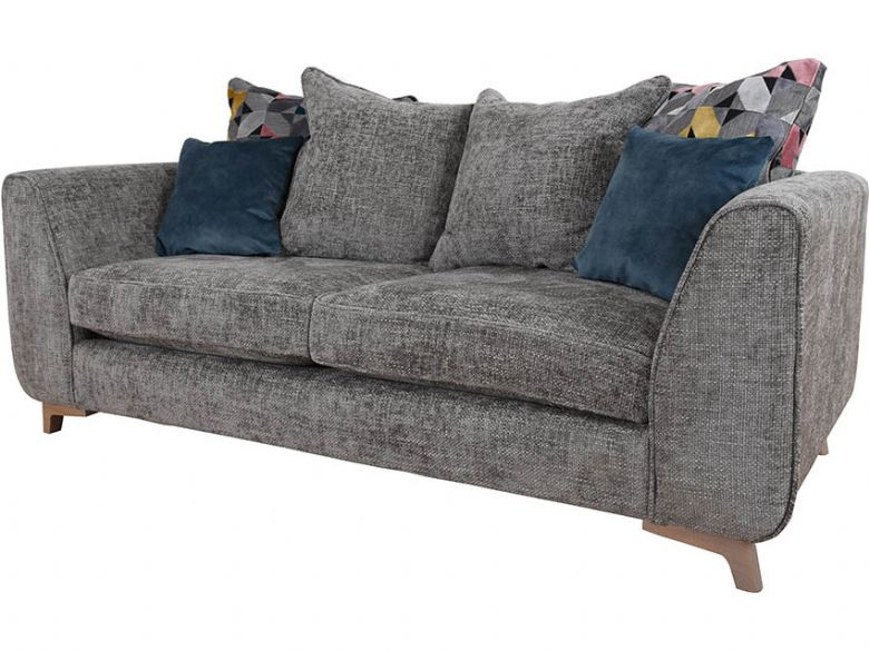 Layla scatter back fabric grey 3 seater sofa