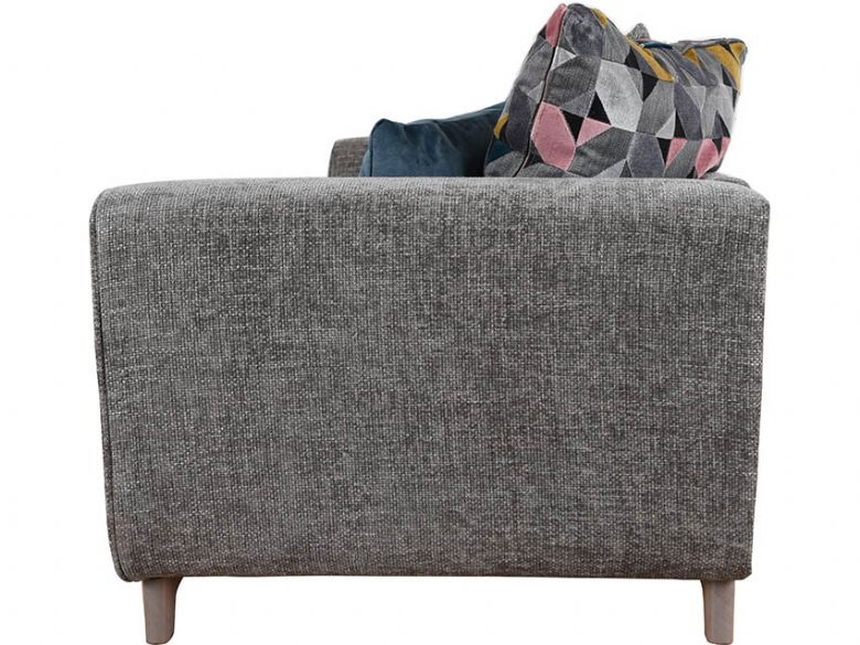 Layls grey fabric scatter back sofa finance options available