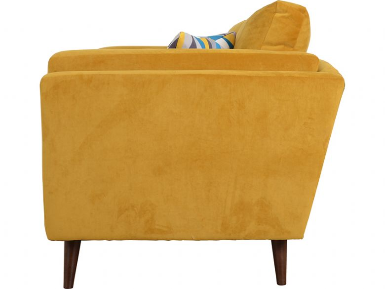 Bianca modern fabric 3 seater sofa side