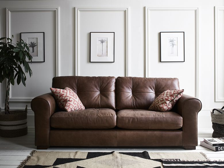 Aubrey Leather Sofa Collection