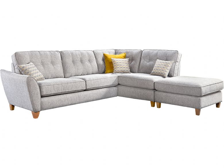 Molly Large RHF Corner Sofa & Stool