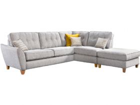 Large RHF Corner Sofa & Stool