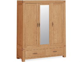 Triple Wardrobe With Mirror