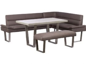 LHF Corner Sofa, Dining Table & Bench Set