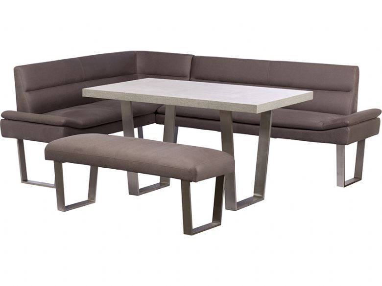 Attractive RHF Corner Sofa, Dining Table U0026 Bench Set