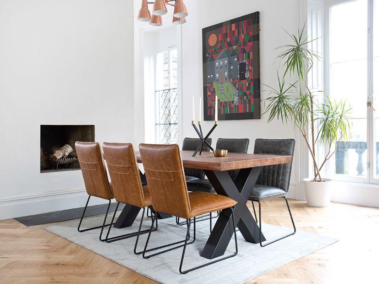 Quebec 18m Cross Leg Dining Table