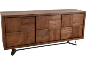 Textured Door Wide Sideboard