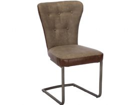 Grey & Brown Dining Chair