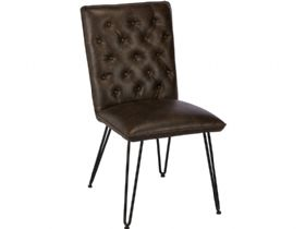 Dining Chair in Dark Brown