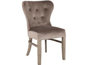 Velvet Taupe Dining Chair