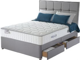 Genoa 4'6 Double Pocket Spring Divan & Mattress