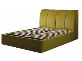 Tempur Harrington 4'6 double ottoman in sundance green