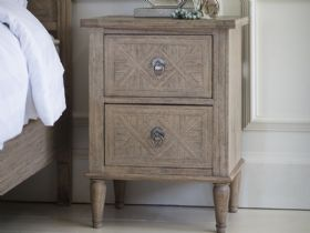 Wishland 2 Drawer Bedside Table