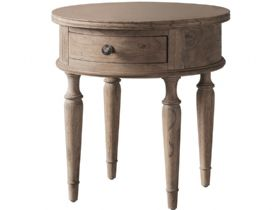 Round 1 Drawer Side Table
