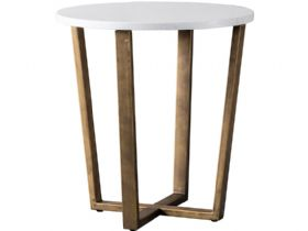 Zin Marble Round Side Table