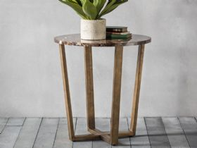 Ravelli Marble Round Side Table