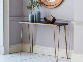 Ascot Ceramic & Metallic Console Table