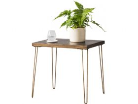 Ceramic & Metallic Side Table