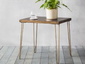 Ascot Ceramic & Metallic Side Table
