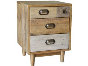 Vienna Reclaimed Pine Bedside Cabinet