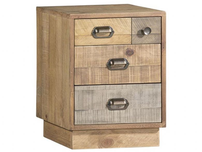 Vienna Reclaimed Pine Bedside Cabinet with Plinth