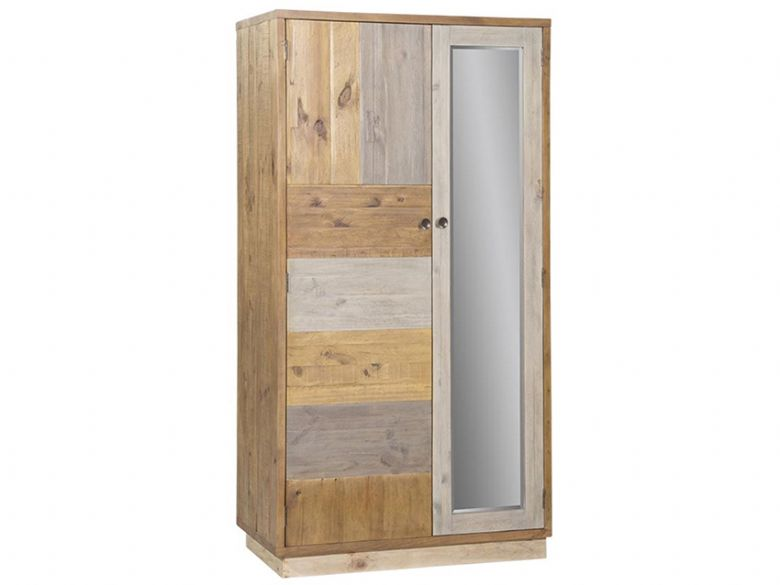 Vienna Reclaimed Pine Double Wardrobe with Plinth