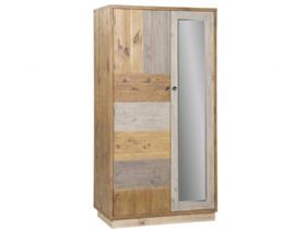 Reclaimed Pine Double Wardrobe with Plinth