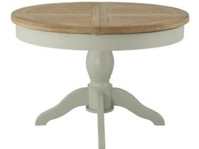 Hunningham Grand Painted Round Butterfly Extending Dining Table