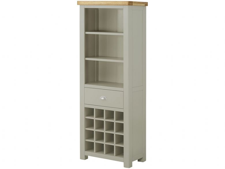Hunningham Grand Painted Bookcase with Wine Holders