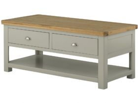 Hunningham Grand Painted Coffee Table with 2 Drawers