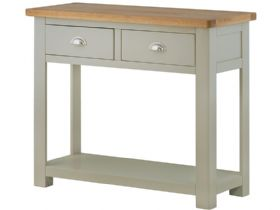 Painted Console Table with 2 Drawers
