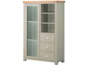 Hunningham Grand Painted Combined Bookcase & Display Cabinet