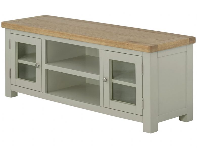 Hunningham Grand Painted Lowline TV Unit With Doors