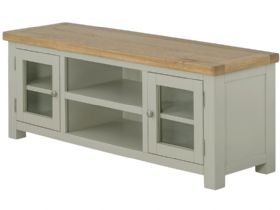 Painted Lowline TV Unit With Doors