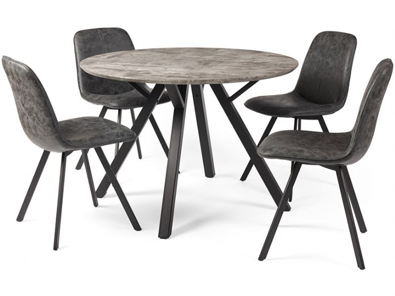 Zurich Round Table & 4 Chairs