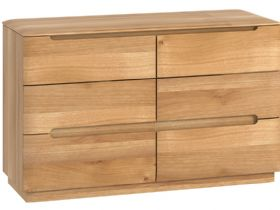 Oak 6 Drawer Chest